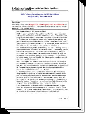 Brigitte Bannenberg: Antworten Gewerbebverein Fragenkatalog