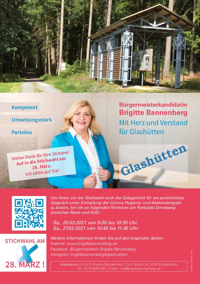 Brigitte Bannenberg Deckblatt Glashütten
