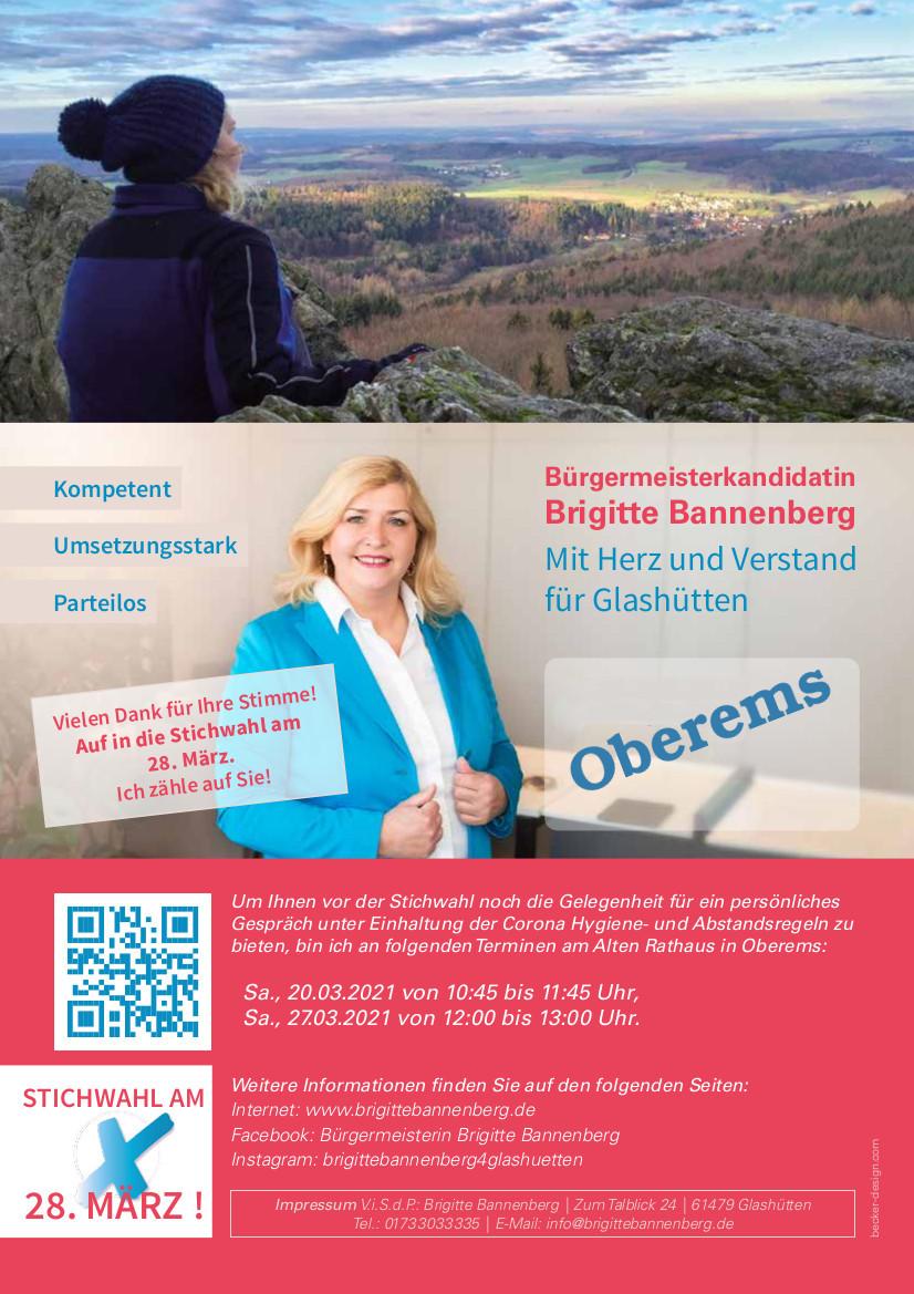 Brigitte Bannenberg Deckblatt Oberems