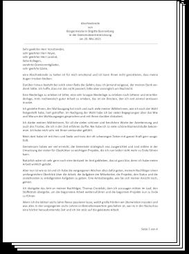 Brigitte Bannenberg Abschiedsrede 20.05.2021